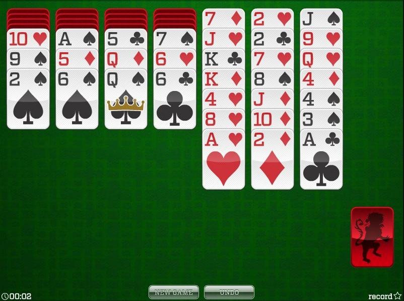 солитер карты играть бесплатно 1 масть