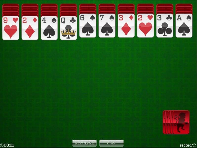 Играть в карты паук косынка и др игры бесплатно 1 масть блоки карт играть