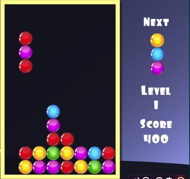 Тетрис Шарики - играть онлайн без регистрации во весь экран бесплатно