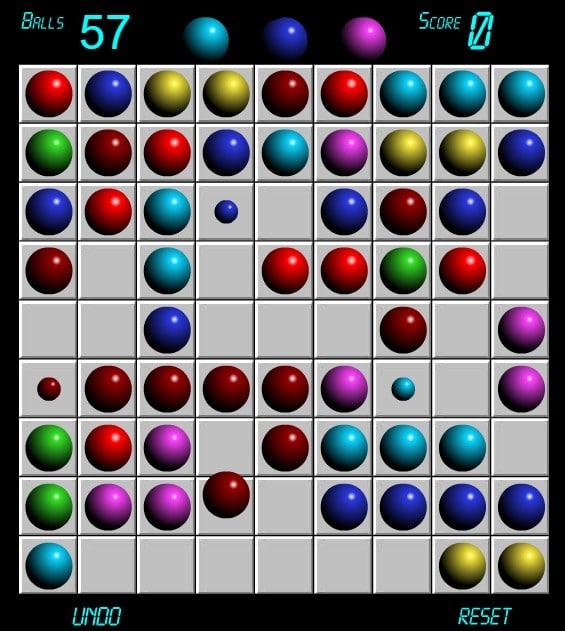 Линии 98 - Играйте игру Шарики Lines 98 онлайн